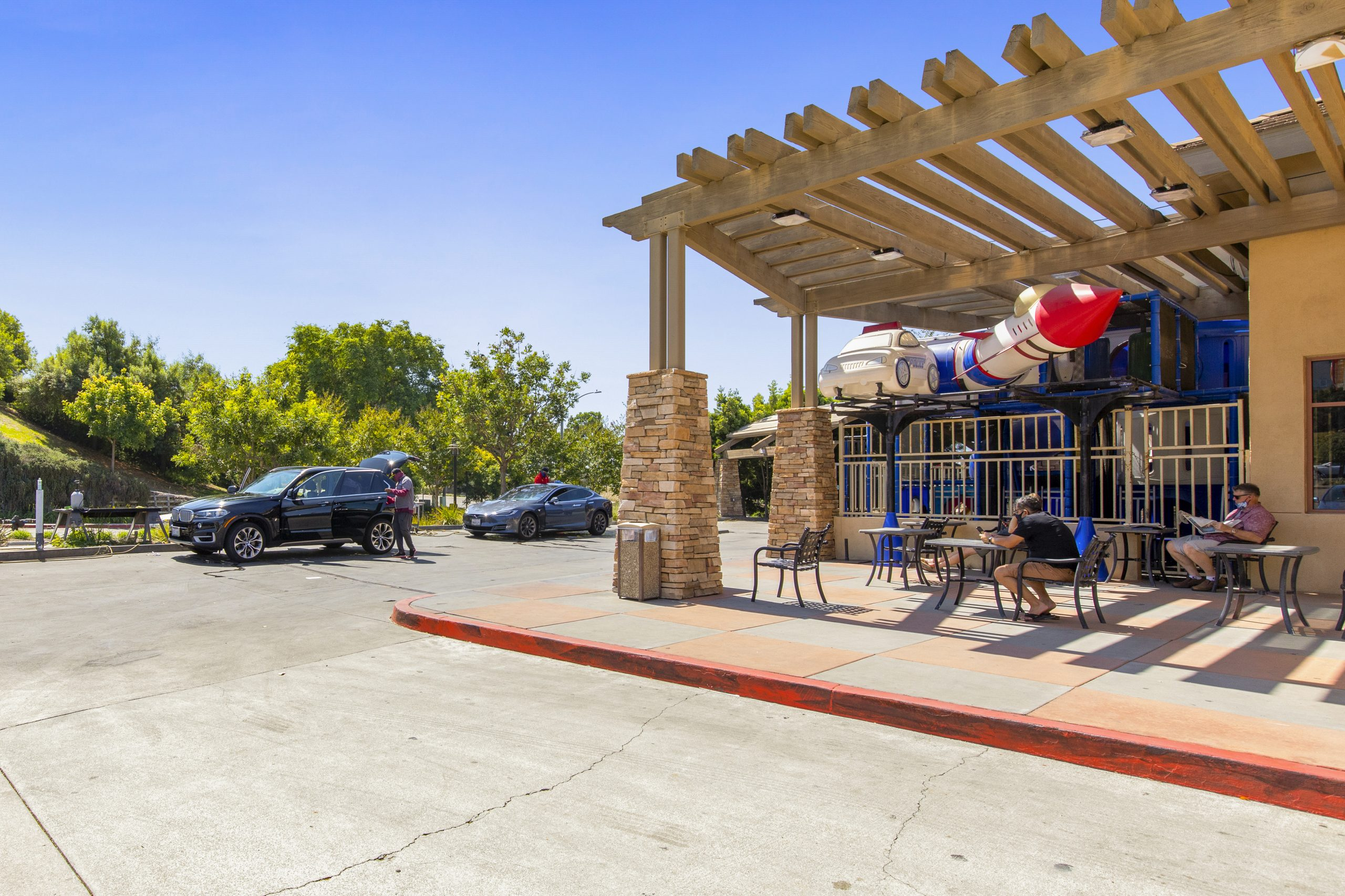 4S playstructure _ outdoor seating.